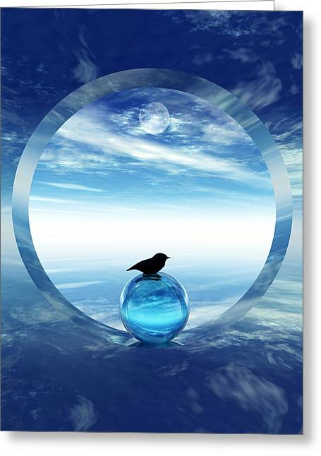 Portal Digital Greeting Cards - Portal to Peace Greeting Card by Richard Rizzo