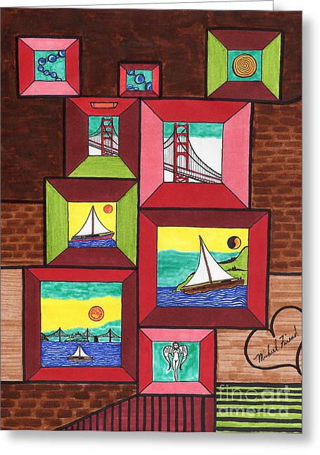 Buildings By The Ocean Greeting Cards - Portal to San Francisco Greeting Card by Michael Friend