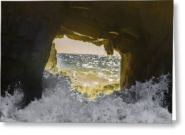 Portal To The Sun / Sea Greeting Card by Brandon McClintock