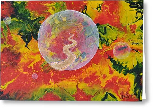 Portal Paintings Greeting Cards - Portals and Dimensions Greeting Card by Georgeta  Blanaru