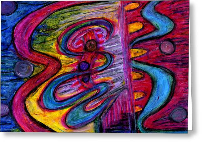 Portal Pastels Greeting Cards - Portals of Heaven Greeting Card by Cassandra Donnelly