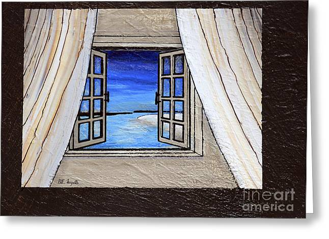 Portal Paintings Greeting Cards - Portals to the Beach Greeting Card by Walt Foegelle