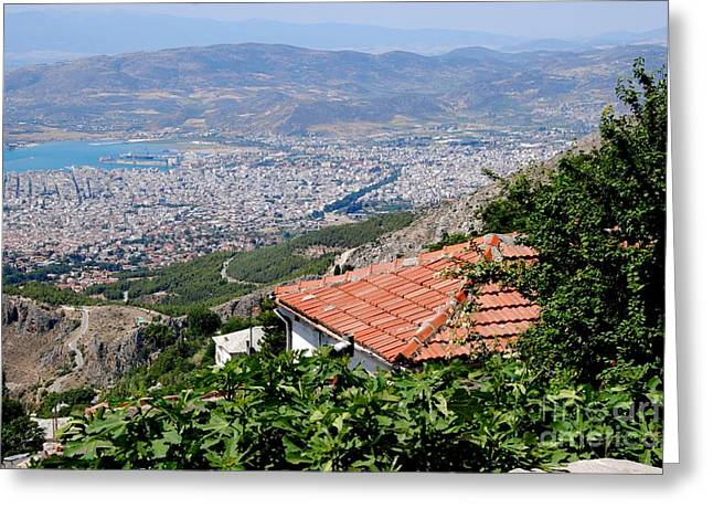 Pelion Greeting Cards - Portaria Roof Vista Greeting Card by Andrea Simon