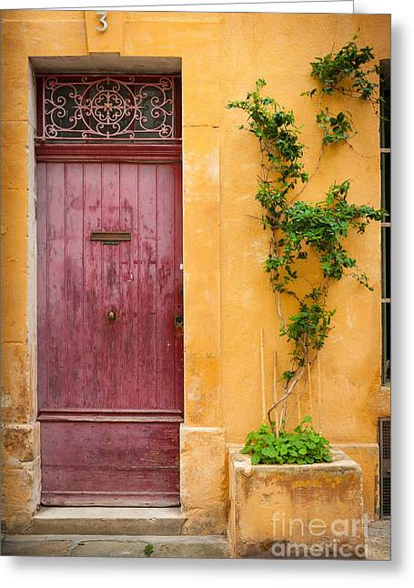 Arles Greeting Cards - Porte Rouge Greeting Card by Inge Johnsson