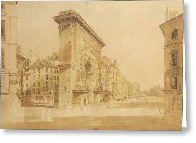 Gateway Greeting Cards - Porte St Denis, Paris Greeting Card by Thomas Girtin