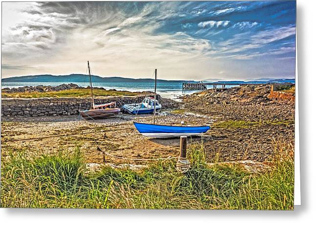 Gloaming Greeting Cards - Portencross Harbour at Low Tide Greeting Card by Tylie Duff
