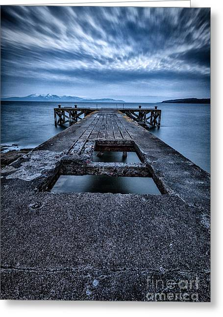 Ayrshire Greeting Cards - Portencross Pier  Greeting Card by John Farnan
