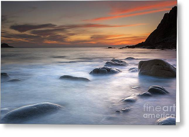 Nature Scene Greeting Cards - Porth Nanven II Greeting Card by Sebastian Wasek