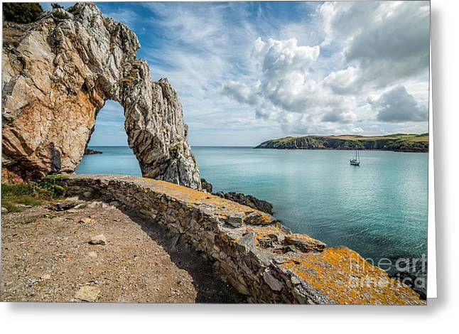Brick Greeting Cards - Porth Wen Arch Greeting Card by Adrian Evans