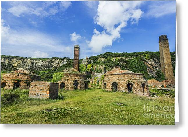 Old Framed Prints Greeting Cards - Porth Wen Brickworks v2 Greeting Card by Ian Mitchell
