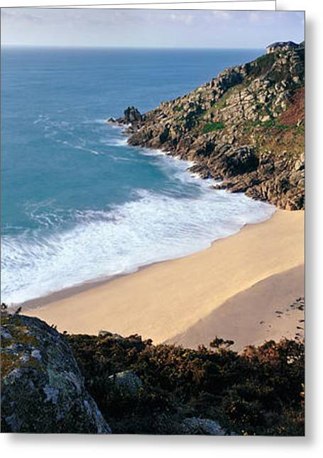 Cornish Beaches Greeting Cards - Porthcurno Greeting Card by Rod McLean