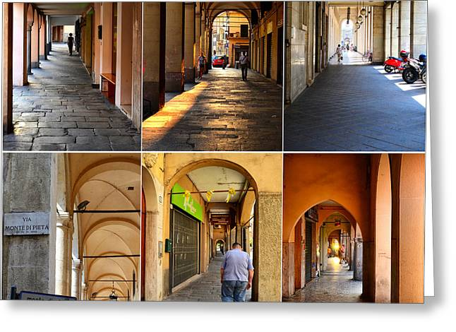 Northern Italy Greeting Cards - Porticos of Padua No 1 Greeting Card by Sabine Jacobs