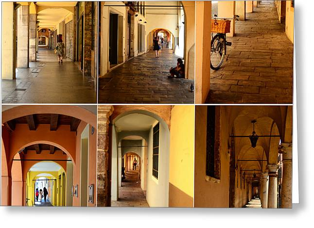 Northern Italy Greeting Cards - Porticos of Padua No 2 Greeting Card by Sabine Jacobs