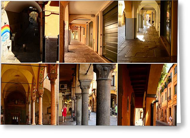 Northern Italy Greeting Cards - Porticos of Padua No 3 Greeting Card by Sabine Jacobs