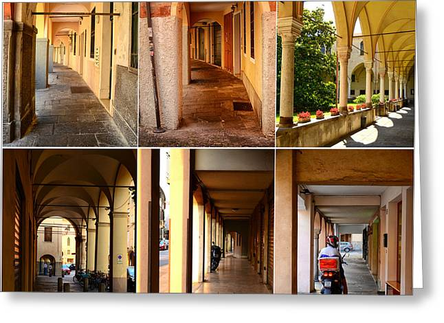 Northern Italy Greeting Cards - Porticos of Padua No 4 Greeting Card by Sabine Jacobs