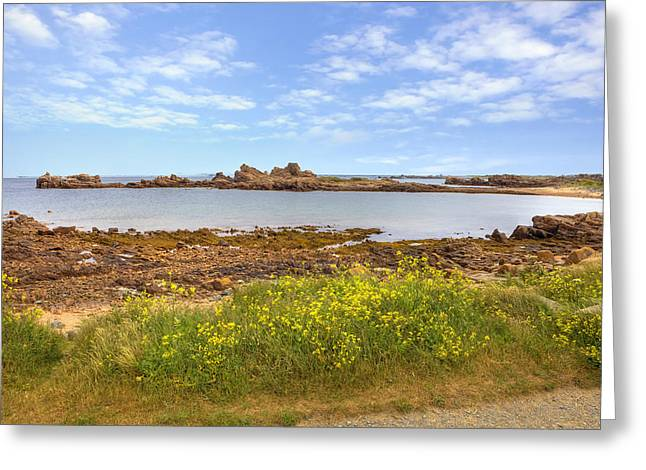 Grande Greeting Cards - Portinfer Bay - Guernsey Greeting Card by Joana Kruse