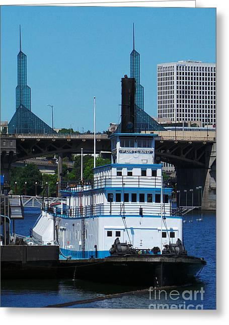 Convention Greeting Cards - Portland at anchor Greeting Card by David Bearden