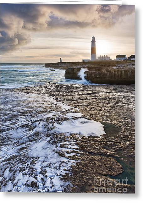 Jurassic Greeting Cards - Portland Bill Greeting Card by Rod McLean