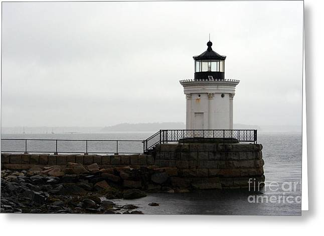 Old Maine Houses Greeting Cards - Portland Breakwater Light - Maine Greeting Card by Christiane Schulze Art And Photography