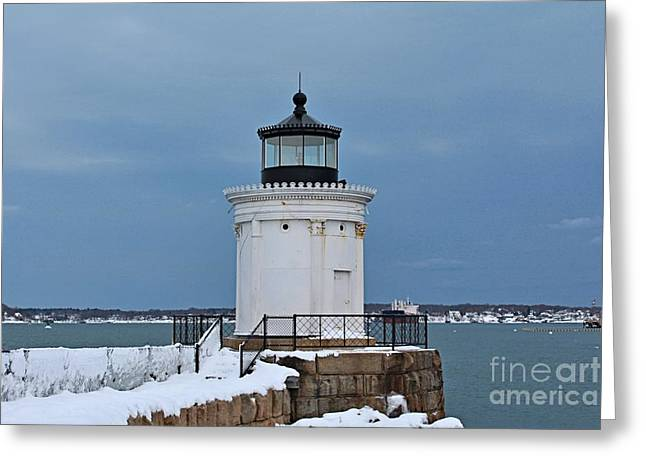 Winter In Maine Greeting Cards - Portland Breakwater_0038 Greeting Card by Joseph Marquis