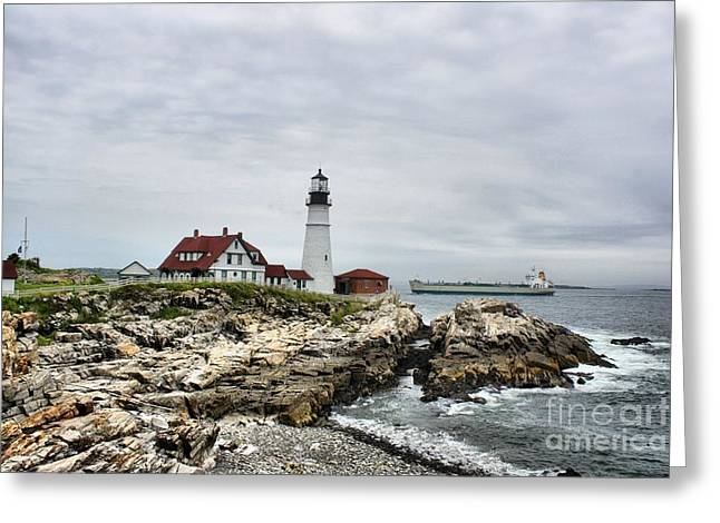 Cape Neddick Lighthouse Greeting Cards - Portland Head 4721 Greeting Card by Joseph Marquis