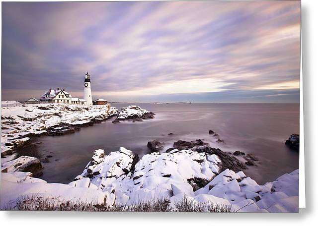 Portland Head Light Greeting Cards - Portland Head Light Greeting Card by Eric Gendron