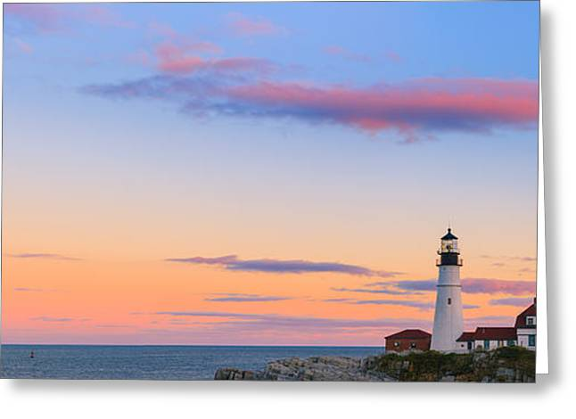 Maine Lighthouses Greeting Cards - Portland Head Light Greeting Card by Henk Meijer Photography