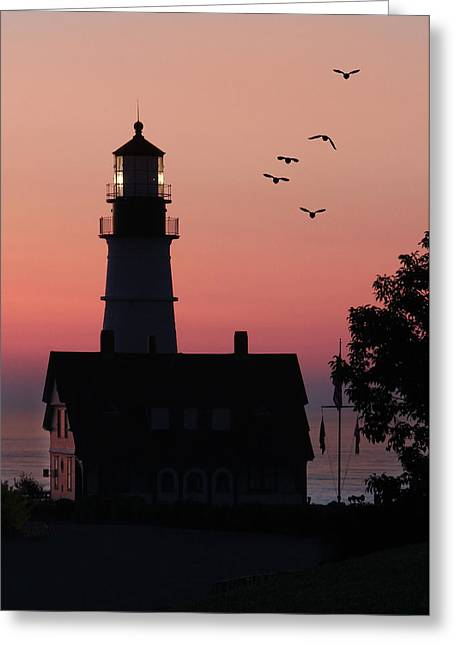 Portland Head Light Greeting Cards - Portland Head Light Greeting Card by Lori Deiter