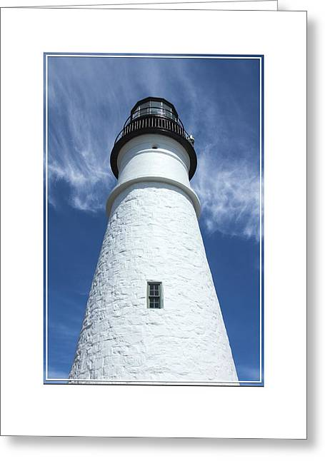 Stones Digital Art Greeting Cards - Portland Head Light Greeting Card by Mike McGlothlen