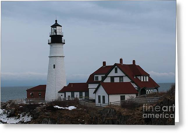 Cape Neddick Greeting Cards - Portland Head Lighthouse 8529 Greeting Card by Joseph Marquis