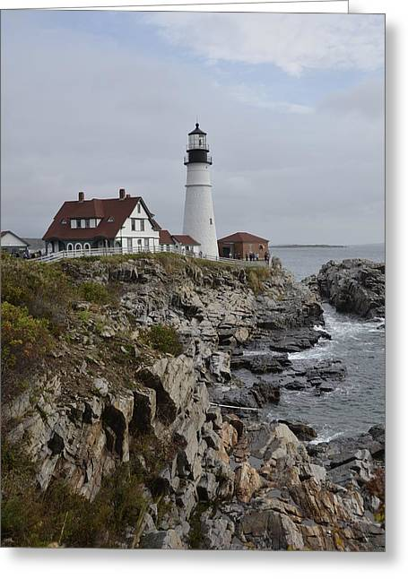 Old Maine Houses Greeting Cards - Portland Light Greeting Card by Michael Gooch