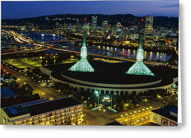 Willamette Greeting Cards - Portland Or Greeting Card by Panoramic Images