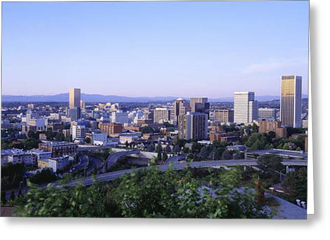 Roadway Greeting Cards - Portland Or Usa Greeting Card by Panoramic Images