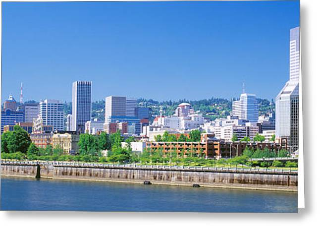 Willamette Greeting Cards - Portland Oregon Usa Greeting Card by Panoramic Images