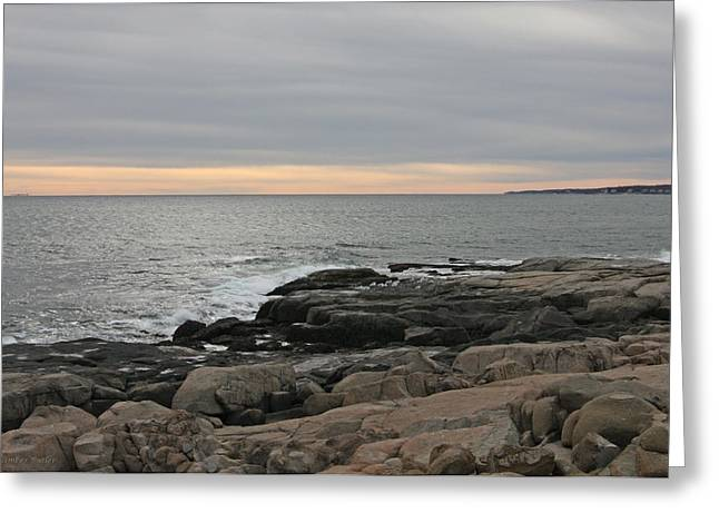 Maine Landscape Greeting Cards - Portland Sunset at Dusk Greeting Card by Kimber  Butler