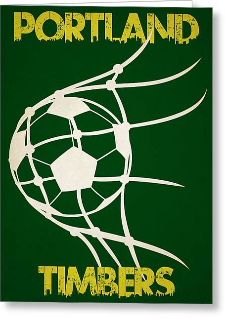 Goal Kick Greeting Cards - Portland Timbers Goal Greeting Card by Joe Hamilton
