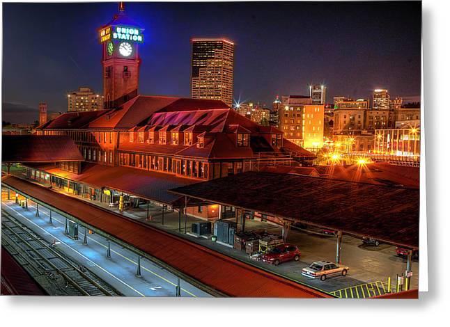 Photo Gallery Website Greeting Cards - Portland Union Railroad Station Greeting Card by Thom Zehrfeld