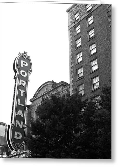 Theater Greeting Cards - Portlandia Greeting Card by Nancy Ingersoll