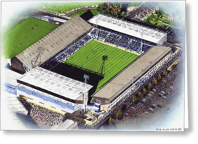Soccer Greeting Cards Greeting Cards - Portman Road - Ipswich Town Greeting Card by Kevin Fletcher