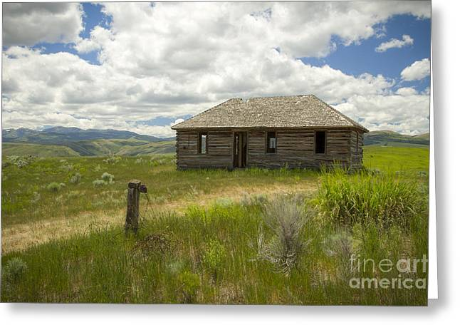 Old Cabins Greeting Cards - Portneuf Valley Cabin Greeting Card by Idaho Scenic Images Linda Lantzy