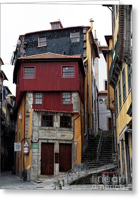 Red School House Greeting Cards - Porto Architecture Greeting Card by John Rizzuto
