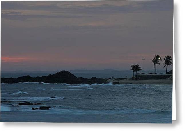 Surf City Greeting Cards - Porto Da Barra Beach With Forte De Greeting Card by Panoramic Images