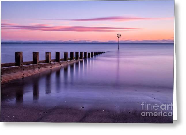 Fife Greeting Cards - Portobello Beach Groynes color Greeting Card by John Farnan