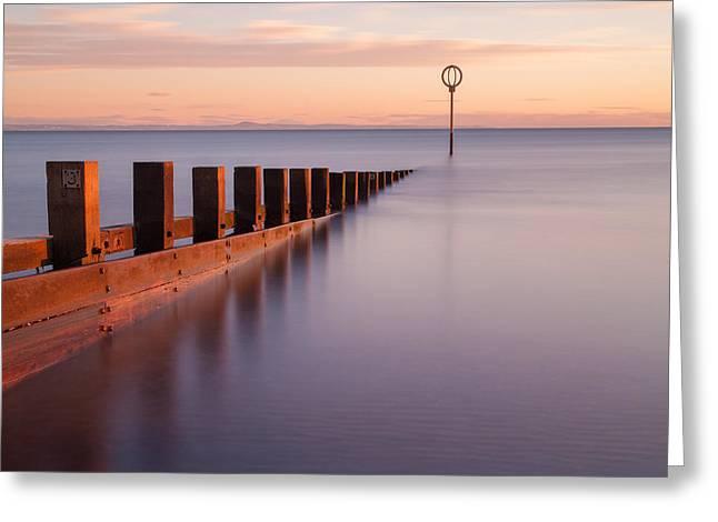 Portobello Beach Groynes Greeting Card by John Farnan