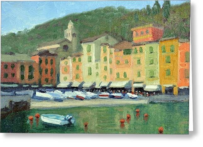 Portofino Italy Greeting Cards - Portofino Greeting Card by Armand Cabrera