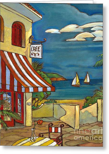 Portofino Italy Greeting Cards - Portofino Cafe Greeting Card by Paul Brent