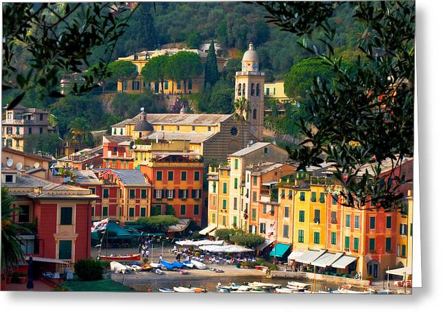 Portofino Greeting Card by Carl Jackson