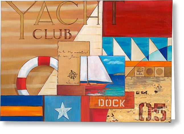 Yacht Club Greeting Cards - Portofino Collage I Greeting Card by Paul Brent