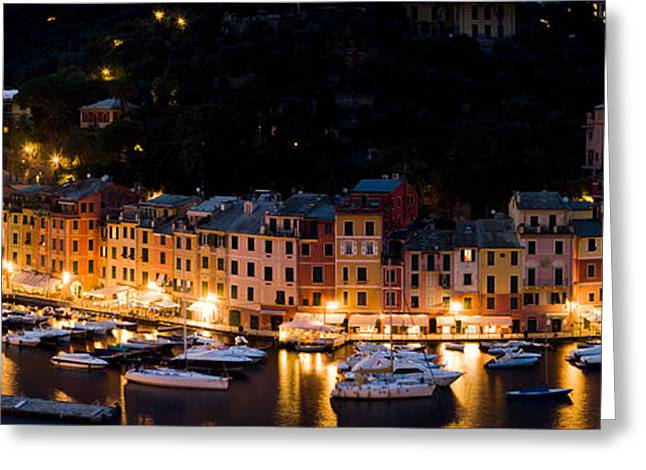 Portofino Italy Greeting Cards - Portofino Evening Greeting Card by Carl Amoth