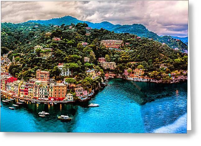 Portofino Italy Greeting Cards - Portofino Italy 108 x 40 Greeting Card by Paul James